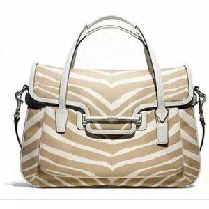 Coach Taylor Zebra Print Satchel Bag